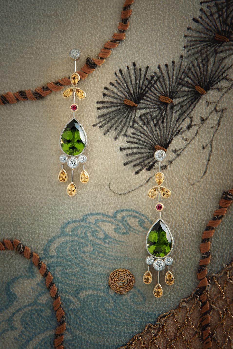 Chantilly Peridot Earrings